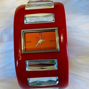 Rare Bcbg Girl  jeweled cuff/bangle watch